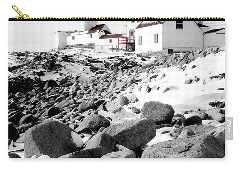 Gloucester Carry-all Pouch featuring the photograph Eastern Point Light by Greg Fortier