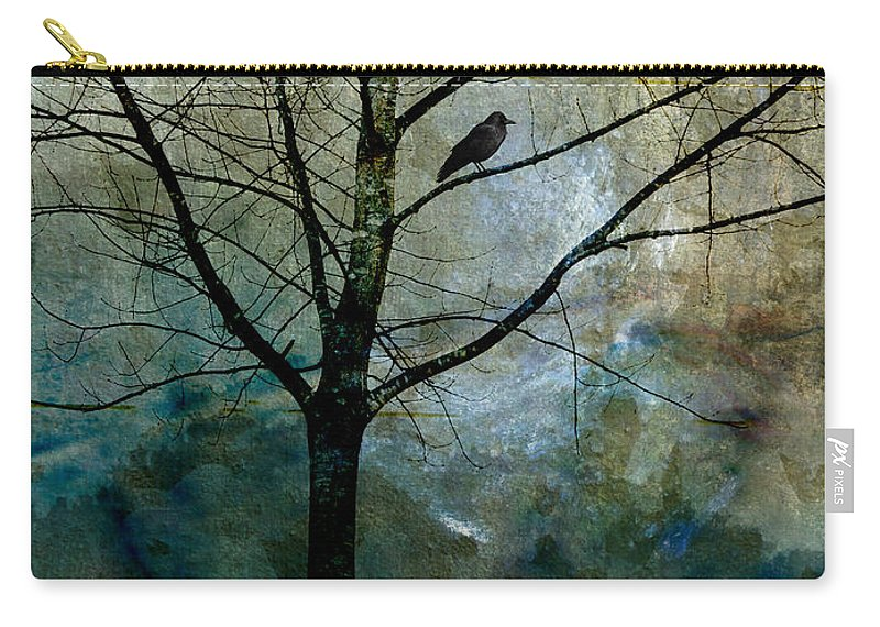 Crow Carry-all Pouch featuring the photograph Eastward by Carol Leigh