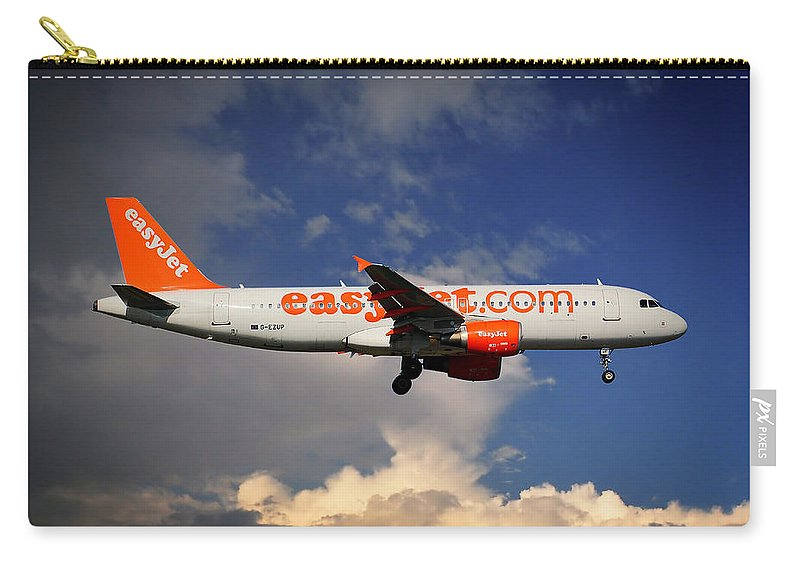 Easyjet Carry-all Pouch featuring the photograph Easyjet Airbus A320-214 by Smart Aviation