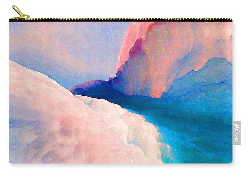 Abstract Carry-all Pouch featuring the photograph Ebb and Flow by Steve Karol