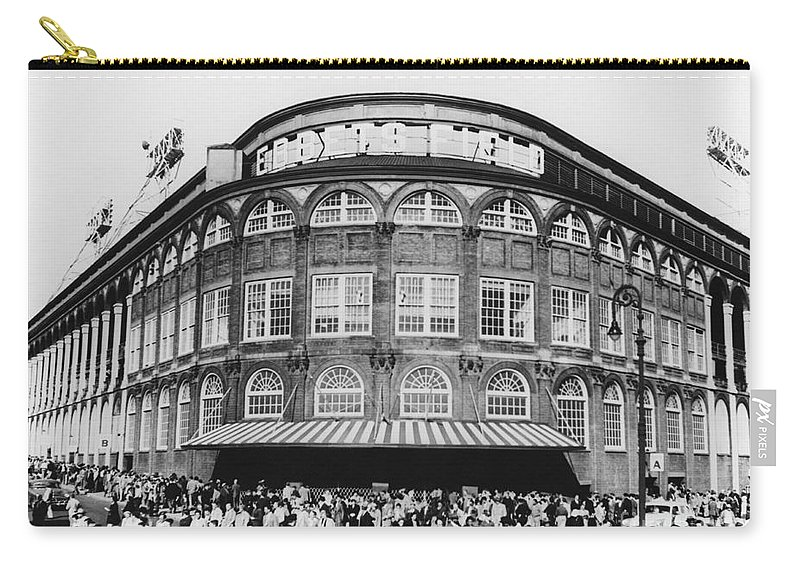 Historic Carry-all Pouch featuring the photograph Ebbets Field, Brooklyn, Nyc by Photo Researchers