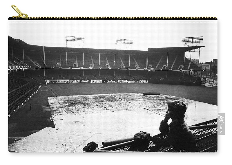 1950 Carry-all Pouch featuring the photograph Ebbets Field, C1950 by Granger