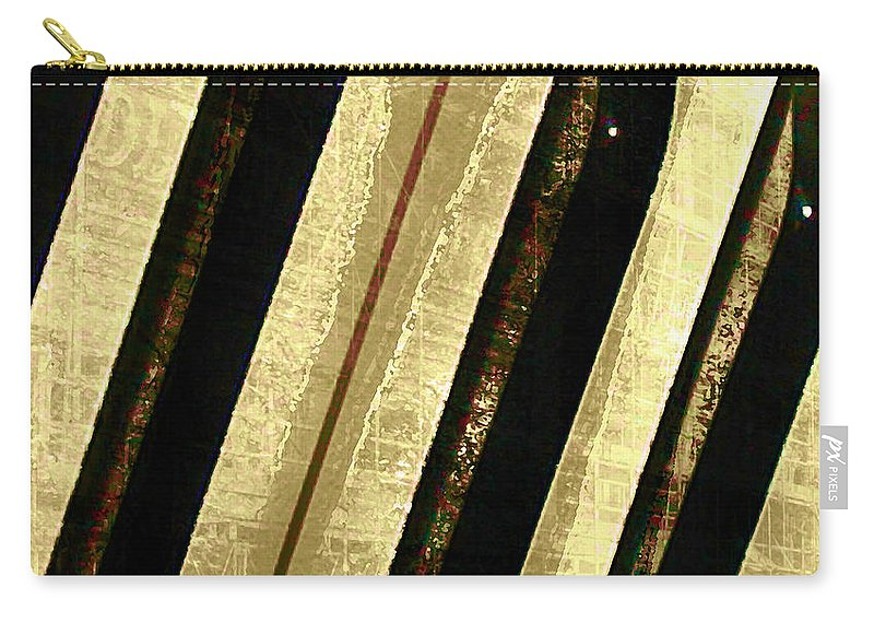 Piano Keys Carry-all Pouch featuring the digital art Ebony And Ivory by Ken Walker