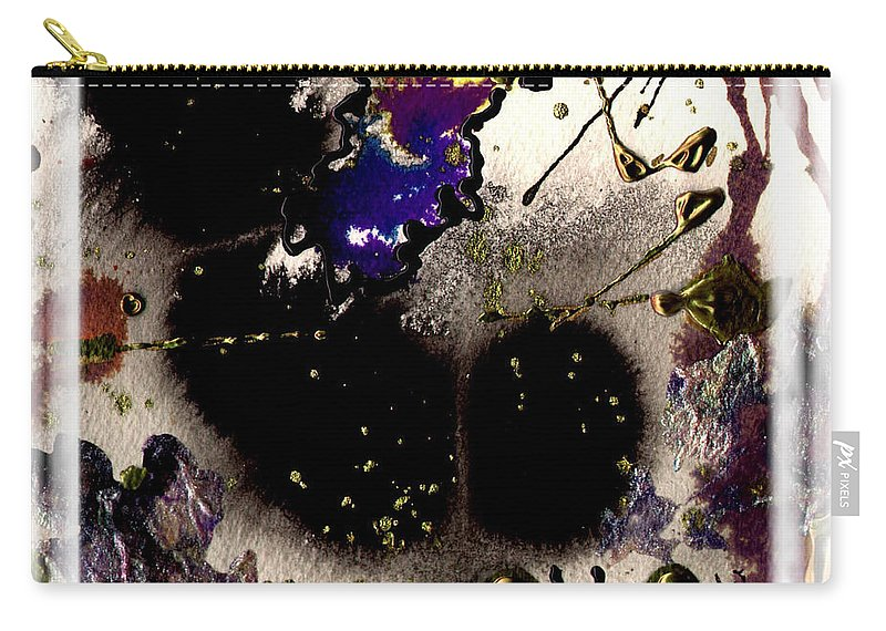 Night Carry-all Pouch featuring the mixed media Ebony Nights by Angela L Walker