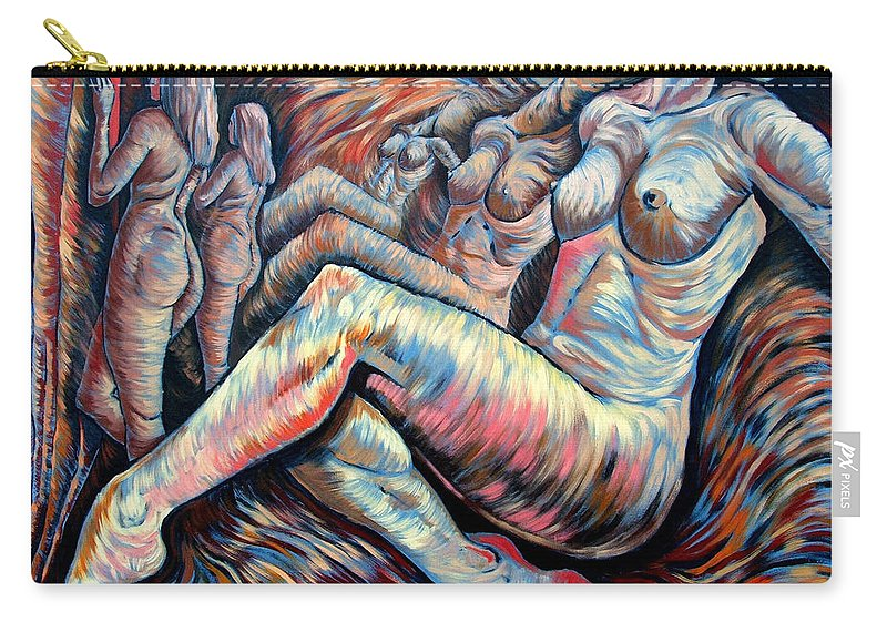 Surrealism Carry-all Pouch featuring the painting Echo Of A Nude Gesture II by Darwin Leon