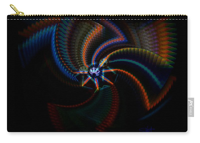 Chaos Carry-all Pouch featuring the painting Echoes by Charles Stuart