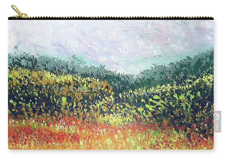 Nature Carry-all Pouch featuring the painting Echoes From Paradise by Kaukab Ahmad