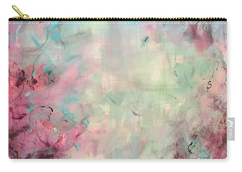 Abstract Art Carry-all Pouch featuring the painting Echoes Of Joy by Suzzanna Frank