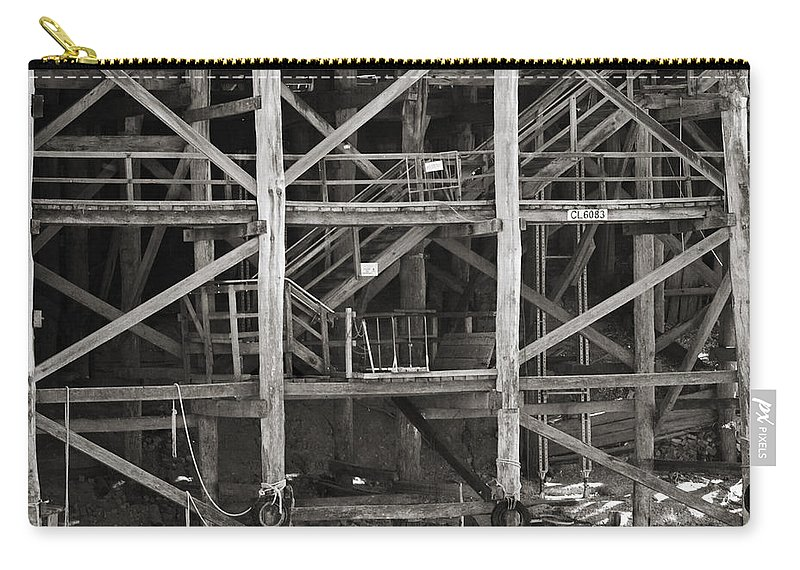 Wharf Carry-all Pouch featuring the photograph Echuca Wharf by Kelly Jade King