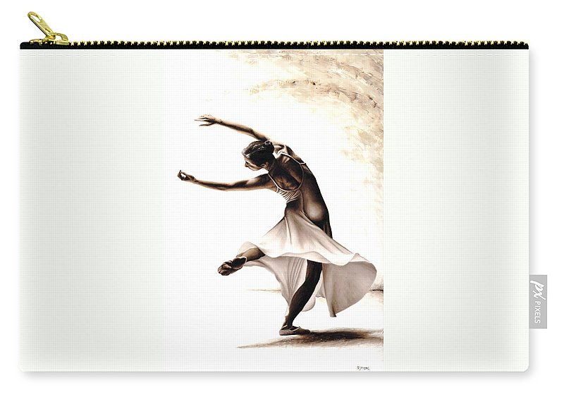 Dancer Carry-all Pouch featuring the painting Eclectic Dancer by Richard Young