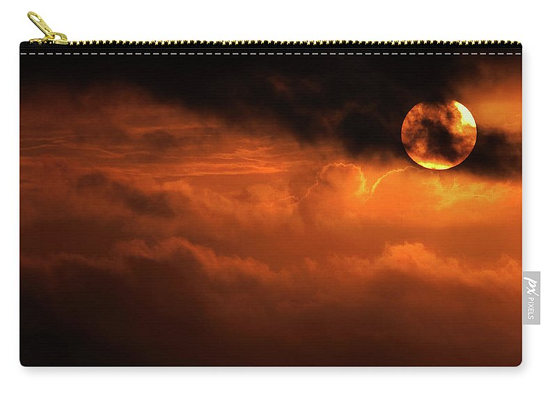 Sunset Carry-all Pouch featuring the photograph Eclipse by Andrew Paranavitana