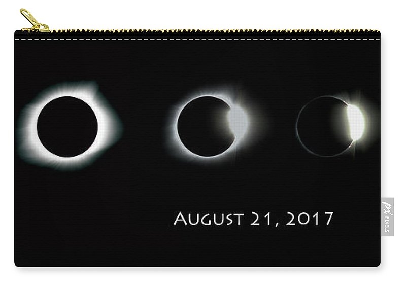 Sun Carry-all Pouch featuring the photograph Eclipse Progression by Leah Palmer