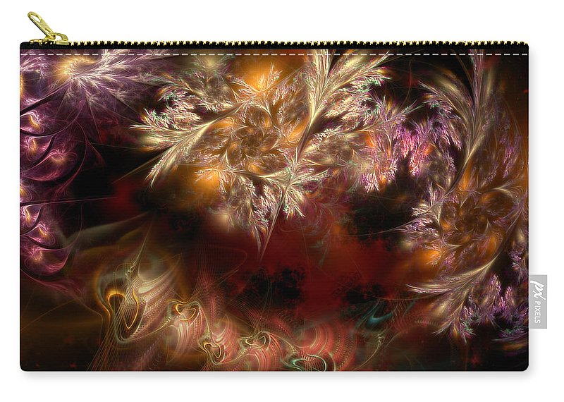 Abstract Carry-all Pouch featuring the digital art Ecological Hope by Casey Kotas