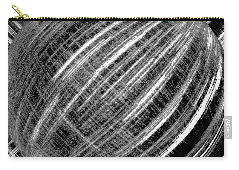 Black & White Carry-all Pouch featuring the digital art Economic Bubble by Will Borden