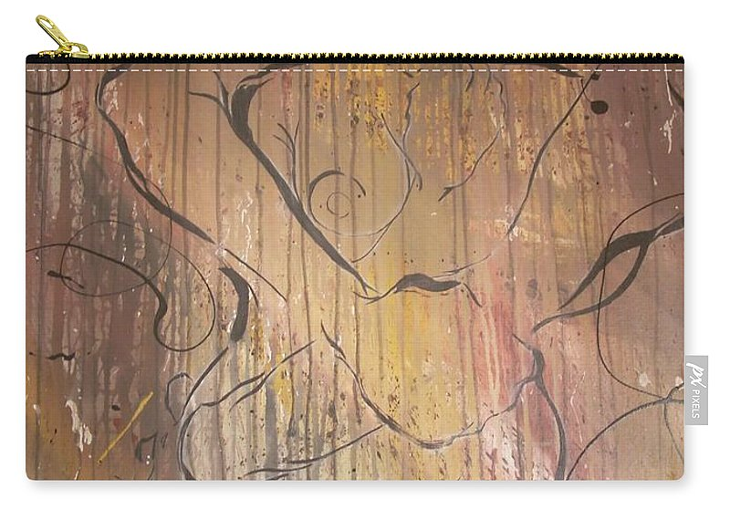 Ecstacy Carry-all Pouch featuring the painting Ecstacy by Hasaan Kirkland
