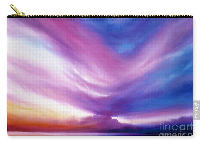 Clouds Carry-all Pouch featuring the painting Ecstacy by James Christopher Hill