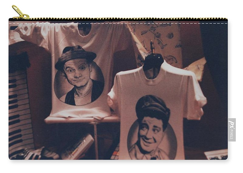 The Honeymooners Carry-all Pouch featuring the photograph Ed And Ralphie Boy by Rob Hans