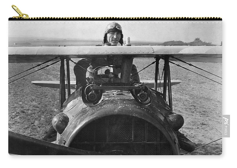 Rickenbacker Carry-all Pouch featuring the photograph Eddie Rickenbacker - World War One - 1918 by War Is Hell Store