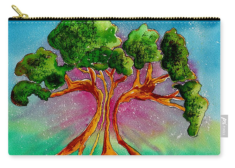 Watercolor Carry-all Pouch featuring the painting Eden's Tree by Brenda Owen