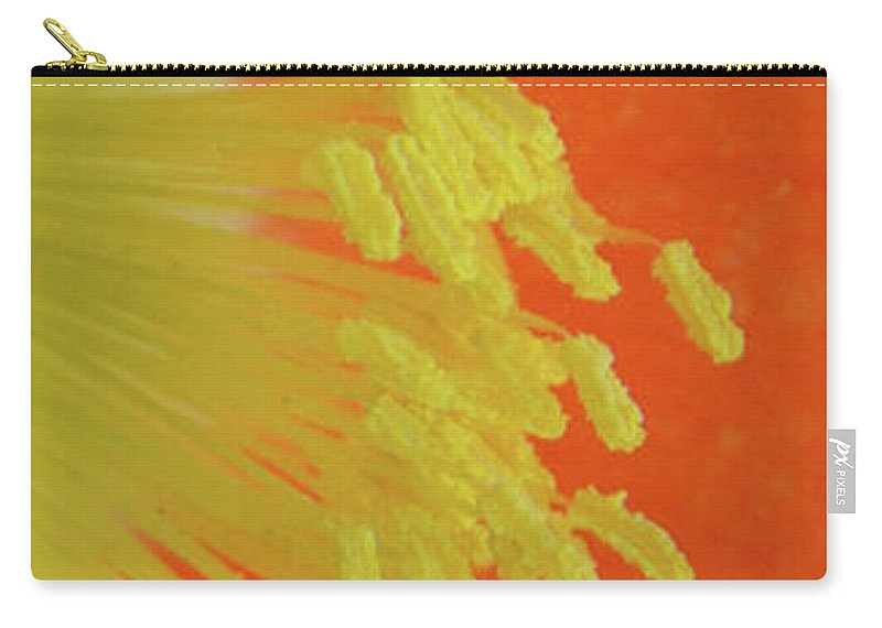 Poppy Carry-all Pouch featuring the photograph Edge Of The Sun by Donna Blackhall