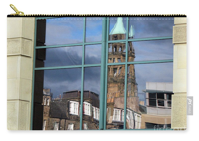 Reflection Carry-all Pouch featuring the photograph Edinburgh Self Interpreted by Amanda Barcon