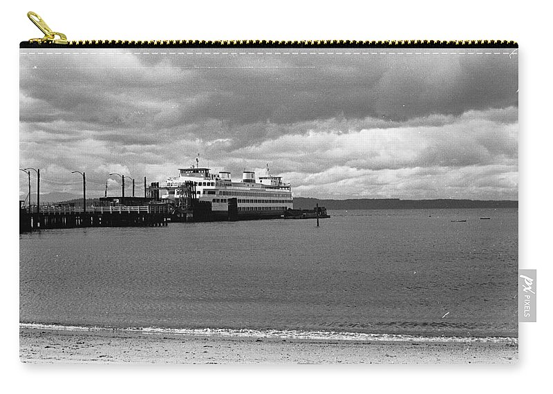 History Carry-all Pouch featuring the photograph Edmonds Ferry by Karen Ulvestad