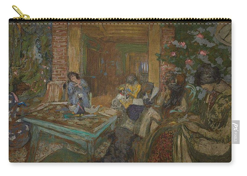 Nature Carry-all Pouch featuring the painting Edouard Vuillard Sewing Party At Loctudy by Edouard Vuillard