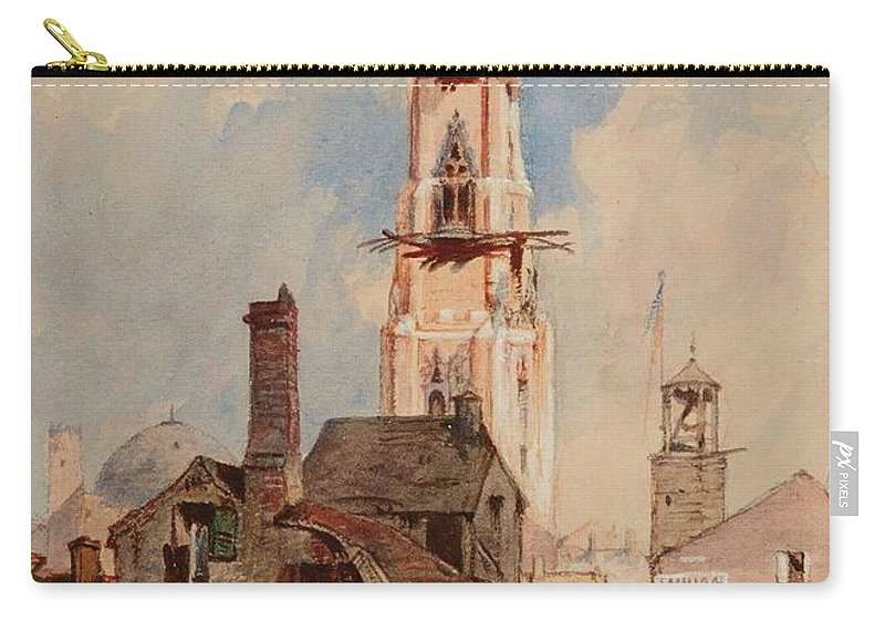 Nature Carry-all Pouch featuring the painting Eduard Hildebrandt, Baltimore by Eduard Hildebrandt