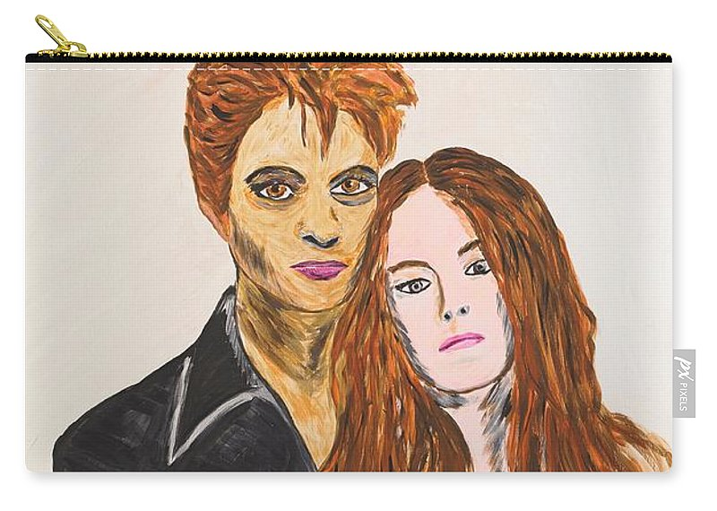 Edward Carry-all Pouch featuring the painting Edward And Bella by Valerie Ornstein