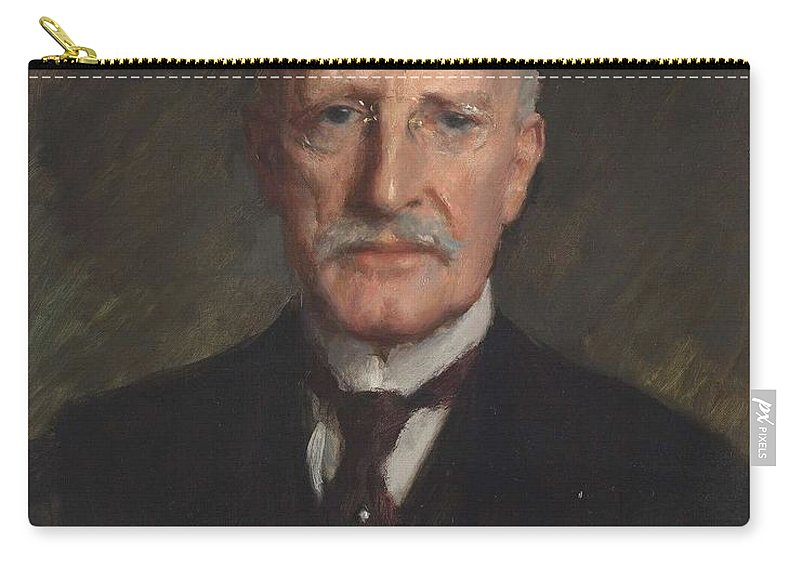 Man Carry-all Pouch featuring the painting Edward Guthrie Kennedy , By William Merritt Chase 1849-1916 by William Merritt Chase