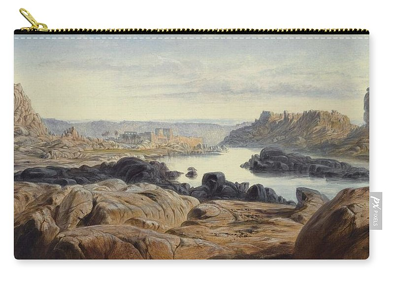 Nature Carry-all Pouch featuring the painting Edward Lear 1812 - 1888 British Philae by Edward Lear