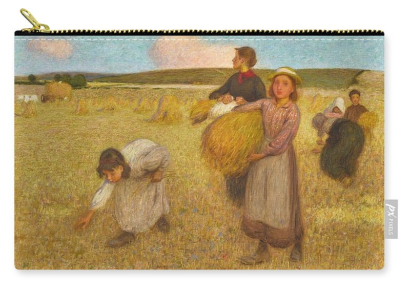 Nature Carry-all Pouch featuring the painting Edward Stott, A.r.a. 1859-1918 Harvesters by Edward Stott