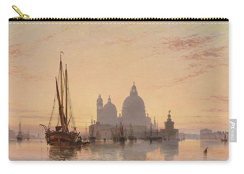 Nature Carry-all Pouch featuring the painting Edward William Cooke Venezia 1851 by Edward William