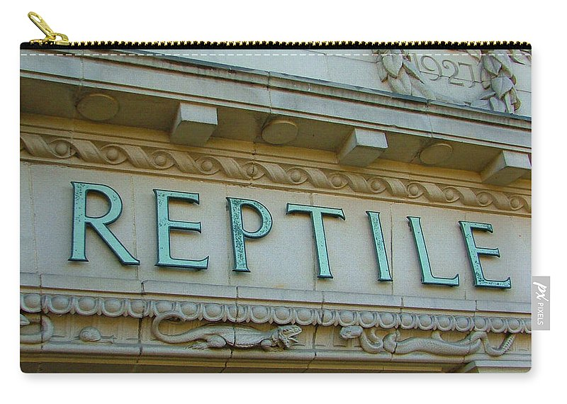 Reptile Carry-all Pouch featuring the photograph Edwardian Reptile House by Heather Lennox