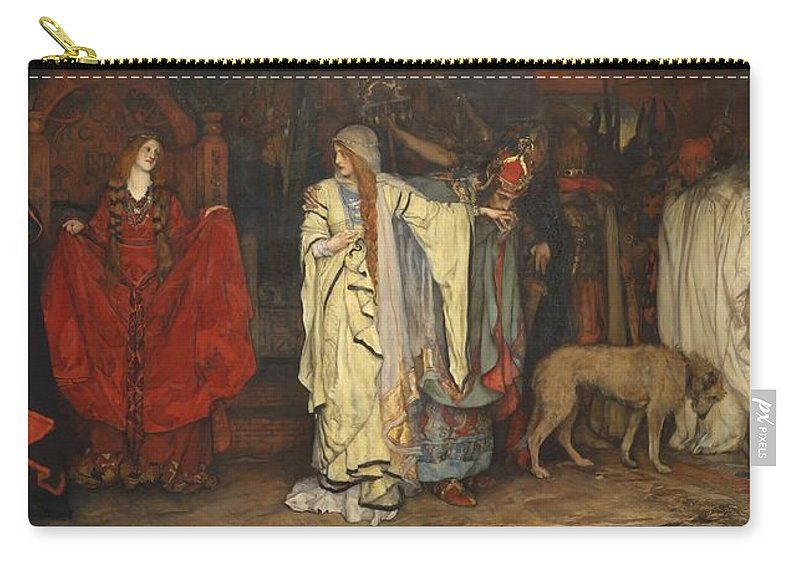 Man Carry-all Pouch featuring the painting Edwin Austin Abbey 1852-1911 King Lear, Cordelias Farewell by Edwin Austin Abbey
