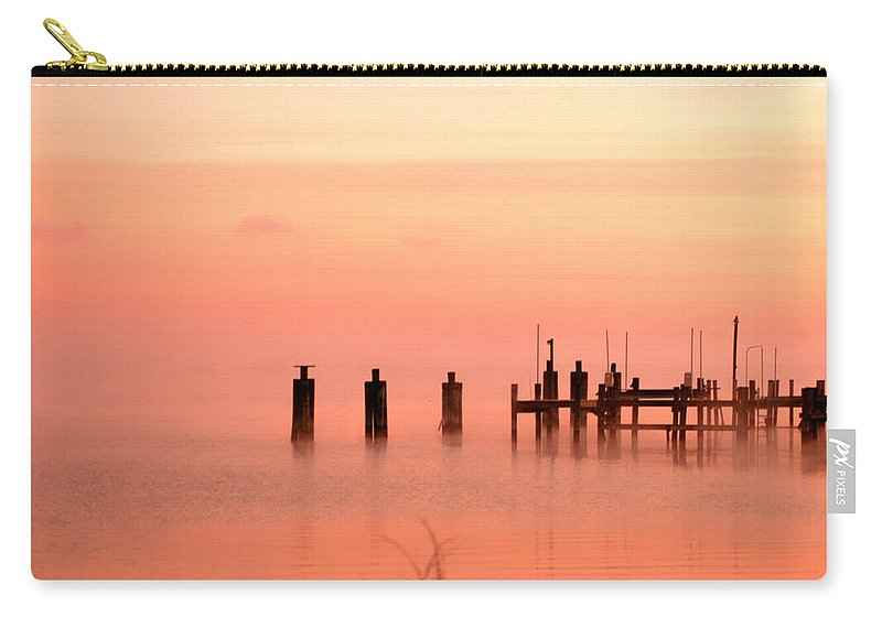 Clay Carry-all Pouch featuring the photograph Eery Morn by Clayton Bruster
