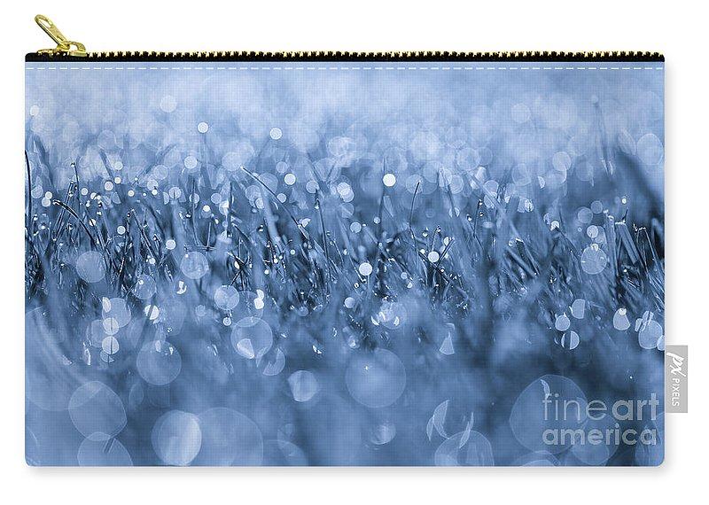 Effervescent Layered Blues Carry-all Pouch featuring the photograph Effervescent Layered Blues by Rachel Cohen