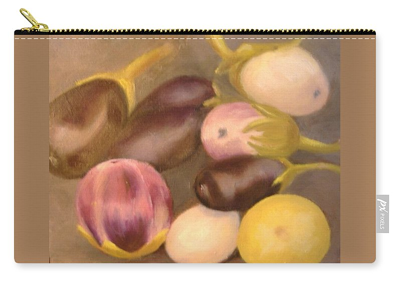 Vegestables Carry-all Pouch featuring the painting Eggplant by Pat Snook