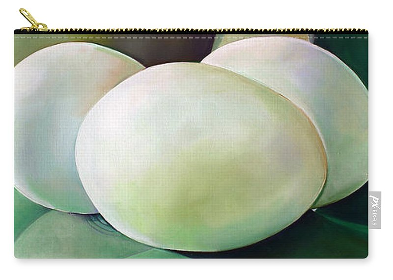 Vintage Carry-all Pouch featuring the painting Eggs On Fiesta Vintage Dinnerware by Toni Grote
