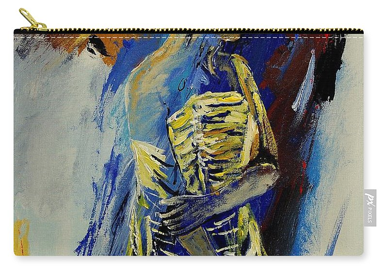 Girl Carry-all Pouch featuring the painting Eglantine 450110 by Pol Ledent