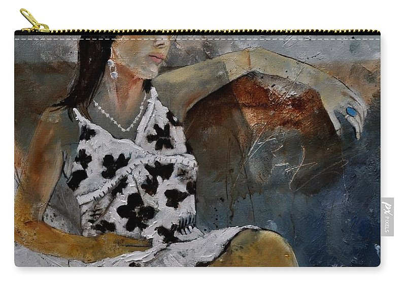Model Carry-all Pouch featuring the painting Eglantine 560160 by Pol Ledent