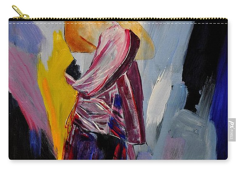 Girl Carry-all Pouch featuring the painting Eglantine 570150 by Pol Ledent