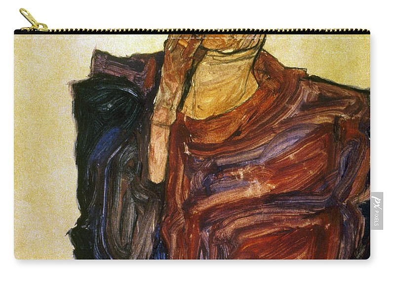 1910 Carry-all Pouch featuring the photograph Egon Schiele (1890-1918) by Granger