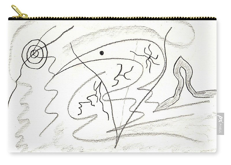 Abstract Carry-all Pouch featuring the drawing Egozentrik 17106 by AndReaS KoVaR