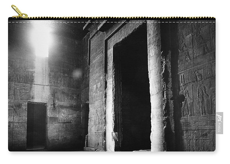 African Carry-all Pouch featuring the photograph Egypt: Dendera: Temple by Granger