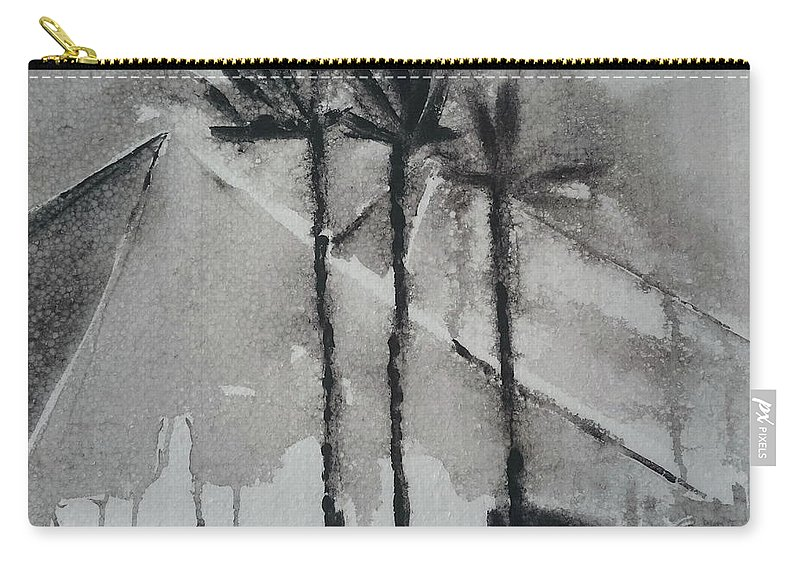 Egypt Carry-all Pouch featuring the painting Egypt by Springtime Seventy Eight