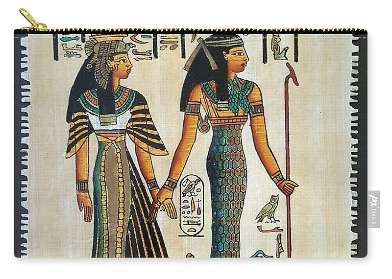 Temple Of Horus Carry-all Pouch featuring the photograph Egyptian Papyrus by Rob Hans