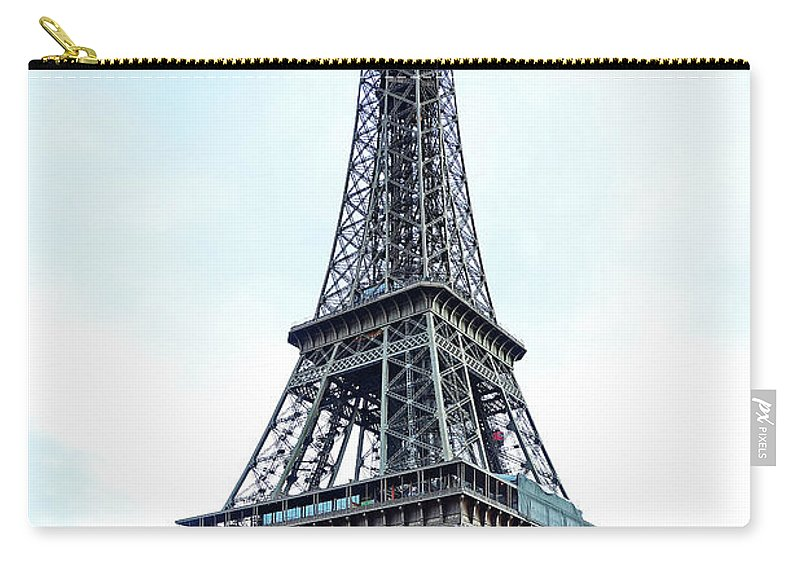 Eiffel Tower Carry-all Pouch featuring the photograph Eiffel Tower 9 by Craig Andrews