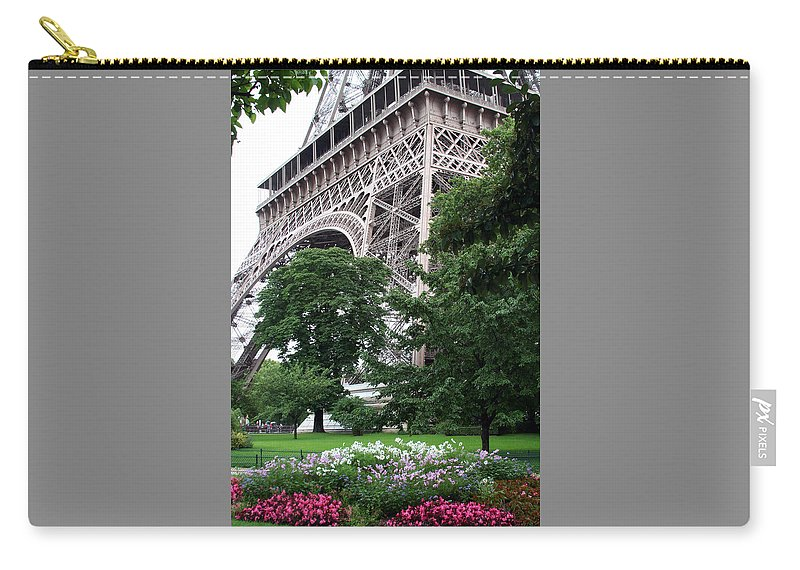 Eiffel Carry-all Pouch featuring the photograph Eiffel Tower Garden by Margie Wildblood