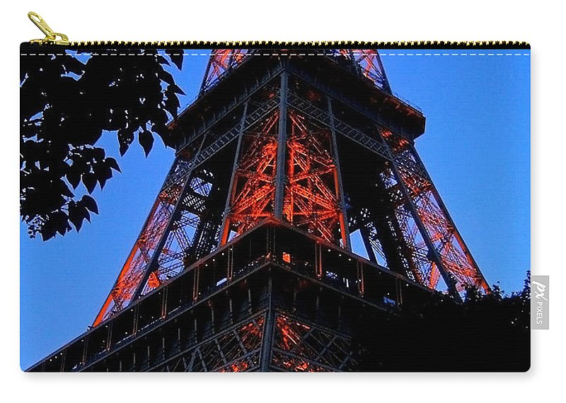 Europe Carry-all Pouch featuring the photograph Eiffel Tower by Juergen Weiss